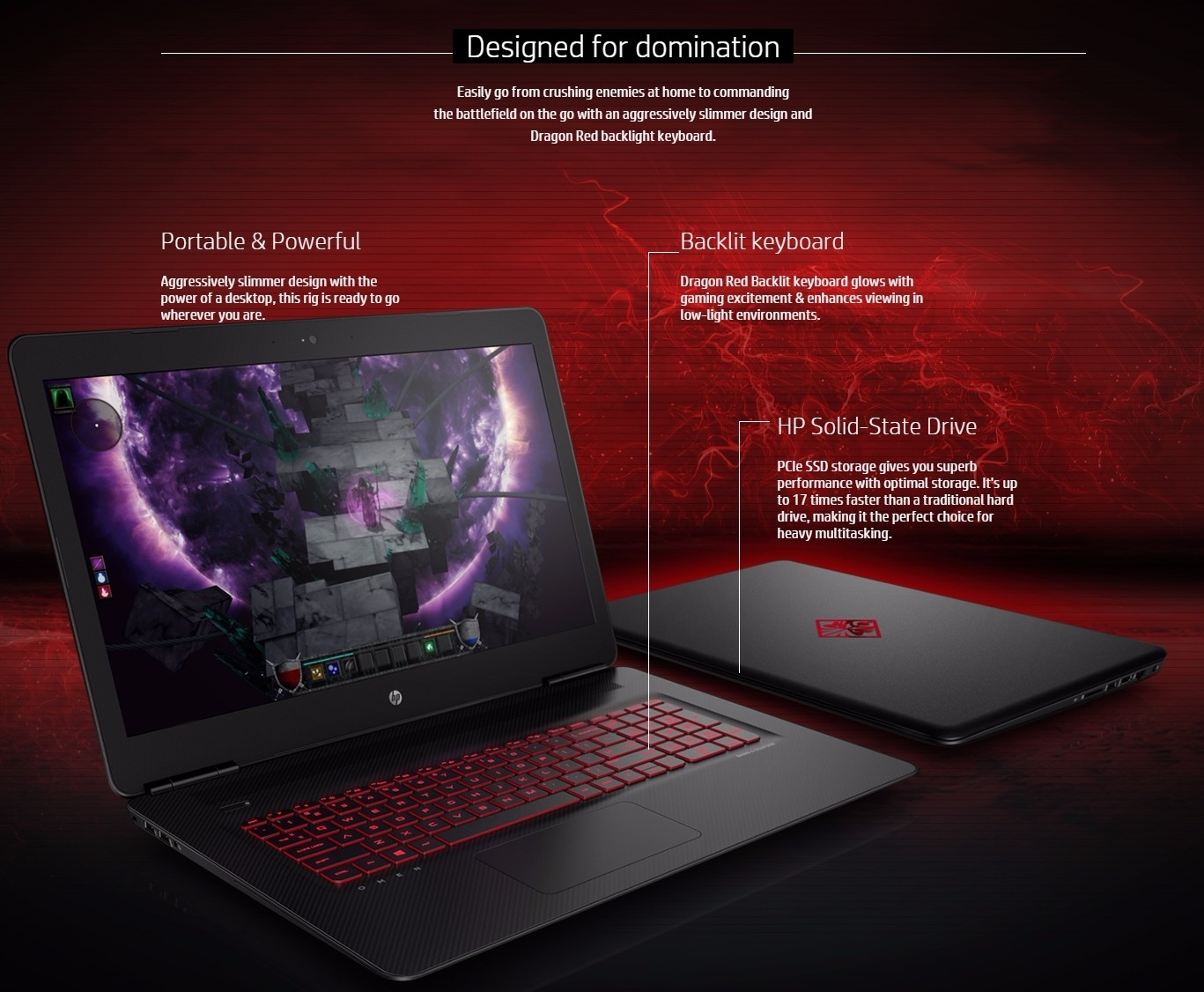 hp omen 17 w228tx 17 3 fhd intel core i7 gaming laptop. Black Bedroom Furniture Sets. Home Design Ideas