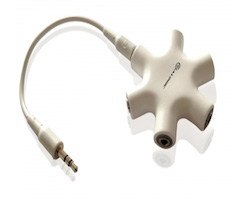 ALOGIC 5 Way 3.5mm Audio Stereo Female Splitter