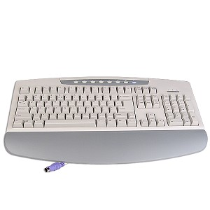 BTC 2001 104-Key PS/2 Internet Keyboard (Beige)
