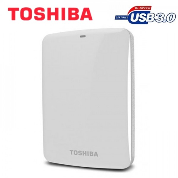 Toshiba Canvio Connect (HDTC705AW3A1) USB 3.0 - 500GB Portable HDD - White