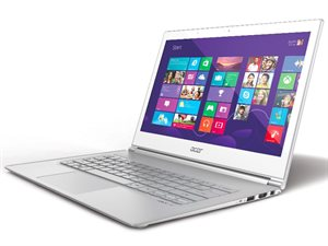 "Picture of Acer Aspire UltraBook S7-392-54208G12tws(NX.MBKSA.003-C77) - i5-4200U - 4GBRAM - 128GB SSD - 13.3"""" FHD - Win8 (White)"