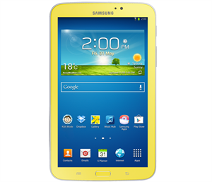 "Picture of Samsung Galaxy Tablet 7"", DC-1.2Ghz, 8GB, Wi-Fi, Bluetooth, Android 4.1 - Yellow"