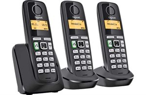 Picture of Gigaset A220A - Trio Handset Phone with Answering Machine - DECT STRD (A220A Trio)