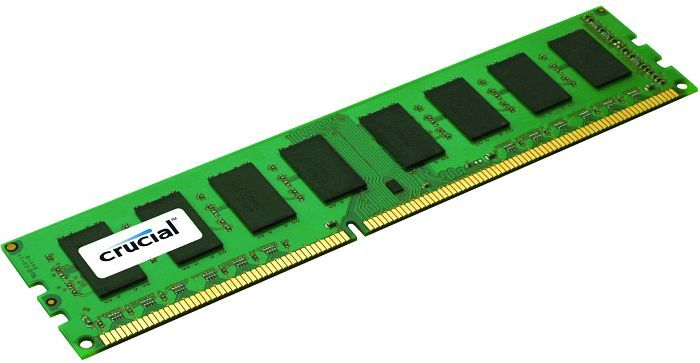 4GB Crucial DDR3 PC12800 1600MHz CL11 Single Ranked Desktop Memory
