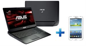 "Picture of NEW!!! Asus G750JS-T4008H I7-4700HQ,17.3""Full HD LED Backlit Panel 16GB 1T+256G SSD 3GB Graphics BRRW 11AC Bluetooth 4.0 8C Windows 8 64Bit + Samsung Galaxy Tab3 7"""