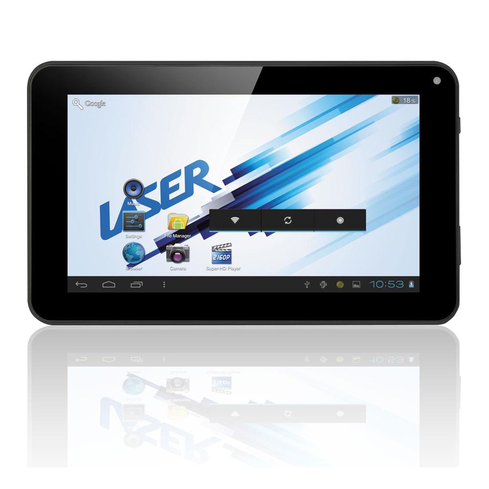 "Laser 7"" eTouch Tablet, Touch Screen, 4GB, Android OS"