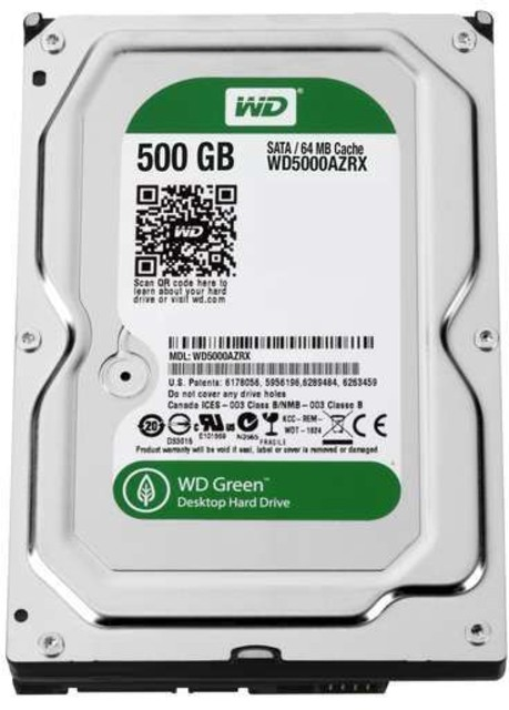 "Western Digital 500GB HDD 3.5"" SATA 6 GB/s"