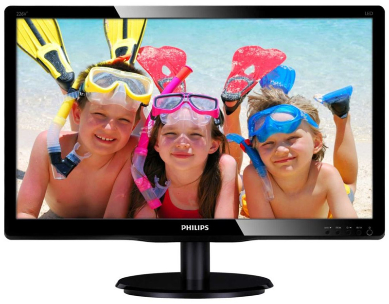 "Philips 22"" 226V4LSB/75 BLACK LED (226V4LSB/75) 5MS / 1920x1080 / D-Sub / DVI"