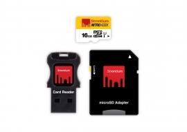 16GB Strontium Micro SD Card with SD Adapter and USB Card Reader