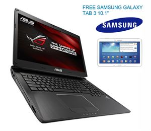 "Picture of Asus G750JZ-T4013H  i7-4700HQ, 17.3""Full-HD,32GB RAM, 1TB HDD+512GB SSD, Nvidia GTX880M 4GB Graphics, Blu-Ray, Windows 8 + Samsung Galaxy Tab3 10.1"""