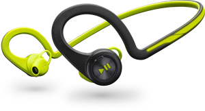 Picture of Plantronics Backbeat Fit, Green, Behind The Head, Wireless Headphones + Mic & Carry Case