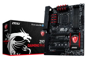 Picture of MSI Z97 Gaming 9AC - 4xDDR3, 3xPCIe, M.2, RAID, Killer Ethernet, WiFi AC, Bluetooth, HDMI DP ATX Gaming Motherboard LGA 1150