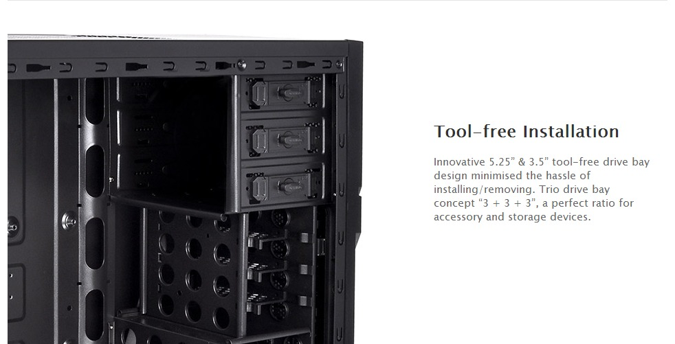 Thermaltake Versa H21 Mid Tower Case with 500W Power Supply (CA-3B2 ...