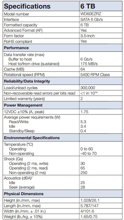 CT WESTERN COMPUTERS  Western Digital WD Blue 6TB - Desktop