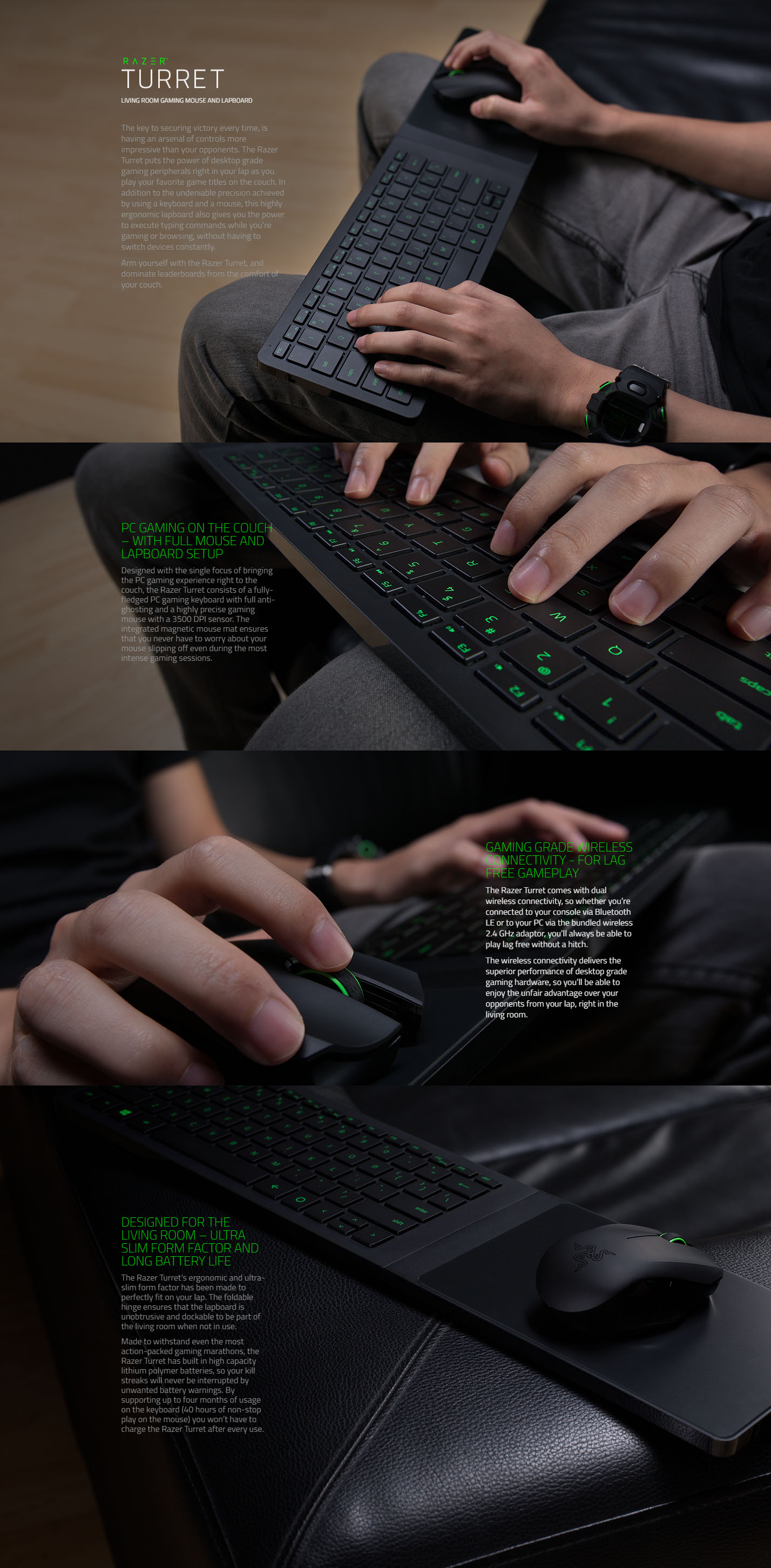 Razer Turret Living Room Gaming Mouse And Lapboard RZ84 01330100