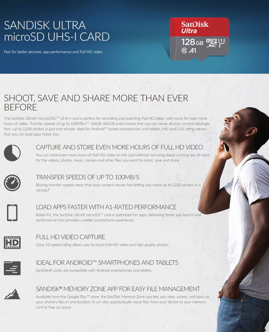 Sandisk 32gb Ultra Microsdxc Uhs I Card Sdsquar 032g Gn6ma Micro Sd 32 Gb Class 10 80mb S Adapter Manufacturer Specifications