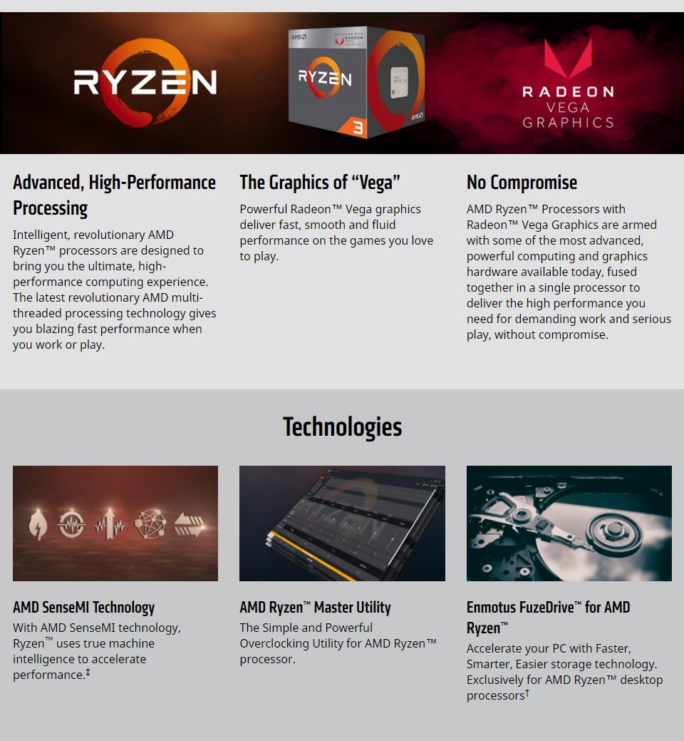 AMD Ryzen 3 2200G Processor with Wraith Stealth Cooler