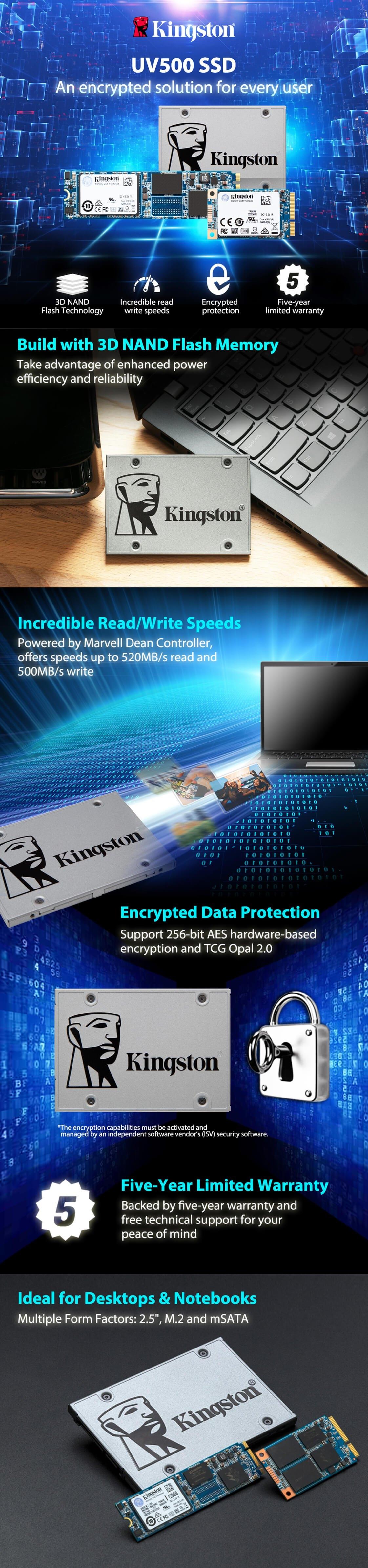 Kingston SSDNow UV500 120GB 2 5