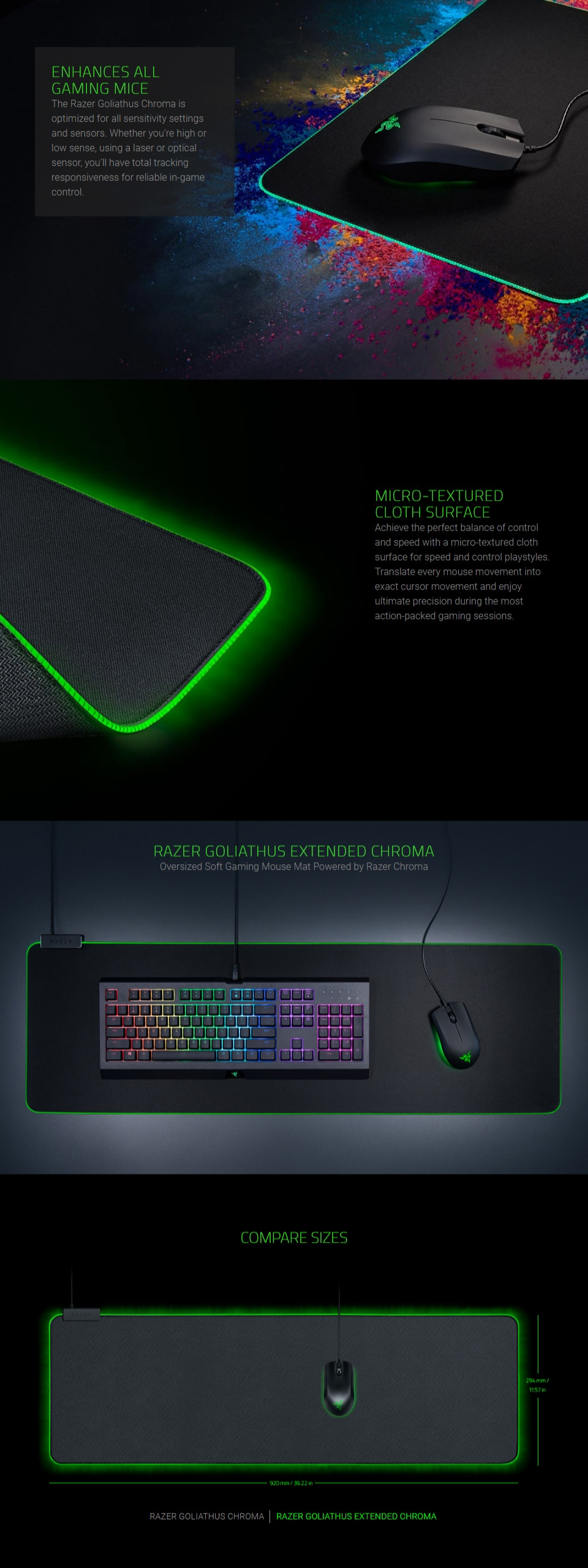 2c6ccb94cd0 Razer Goliathus Chroma Soft Gaming Mouse Mat - Extended (RZ02 ...