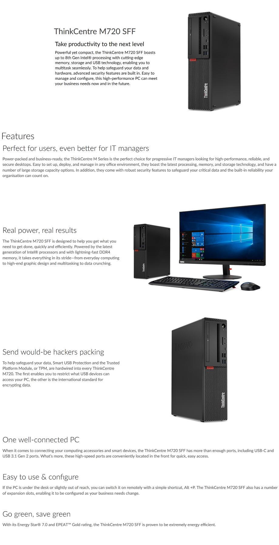Lenovo ThinkCentre M720 SFF Intel Core i7 Desktop PC