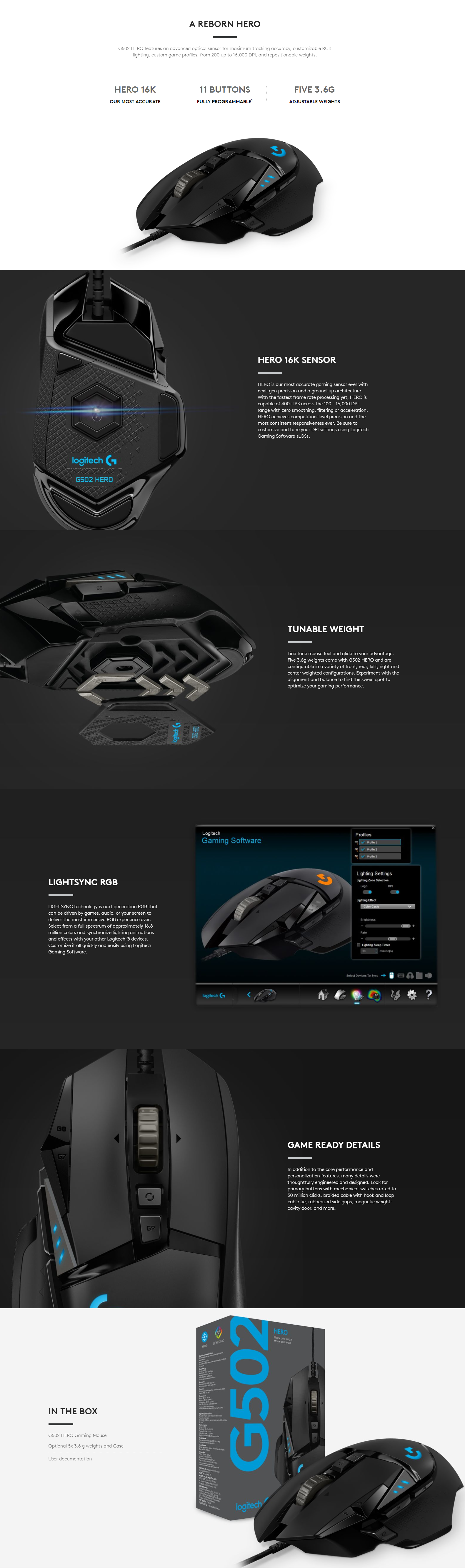 Logitech G502 Hero Mouse | AllBoard tk - HOT Popular Items