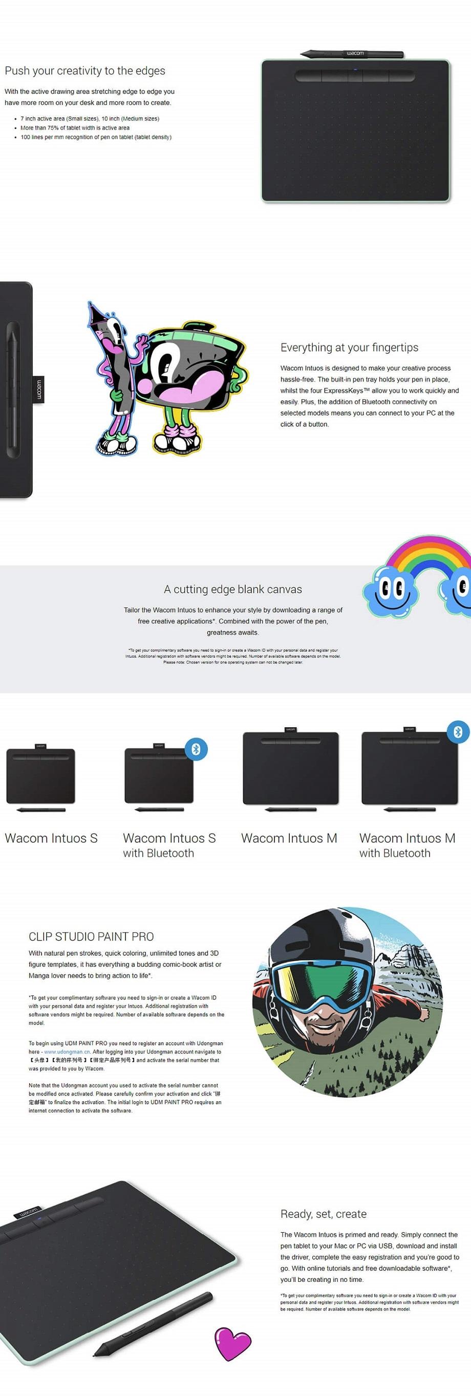 Wacom Intuos Small Bluetooth - Black