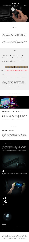 Creative Bluetooth Audio BT-W2 USB Transceiver