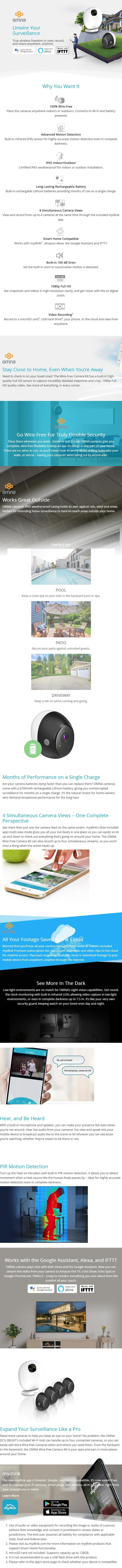 D-Link OMNA Wire-Free Indoor/Outdoor Camera Kit