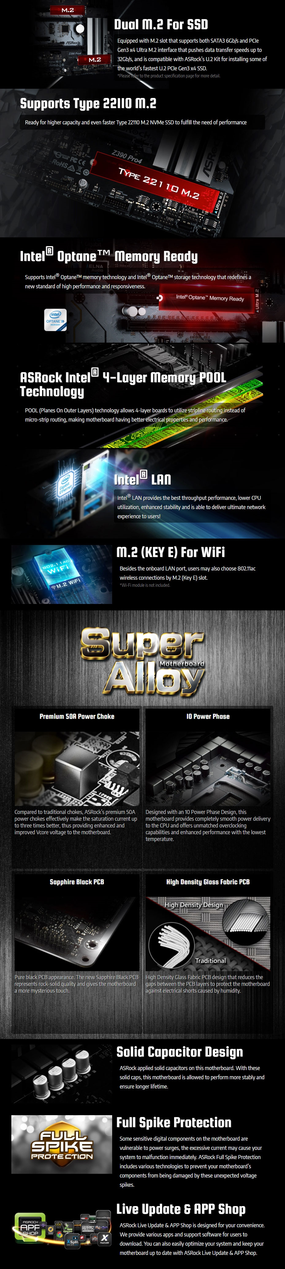 ASRock Z390 Pro4 ATX Motherboard