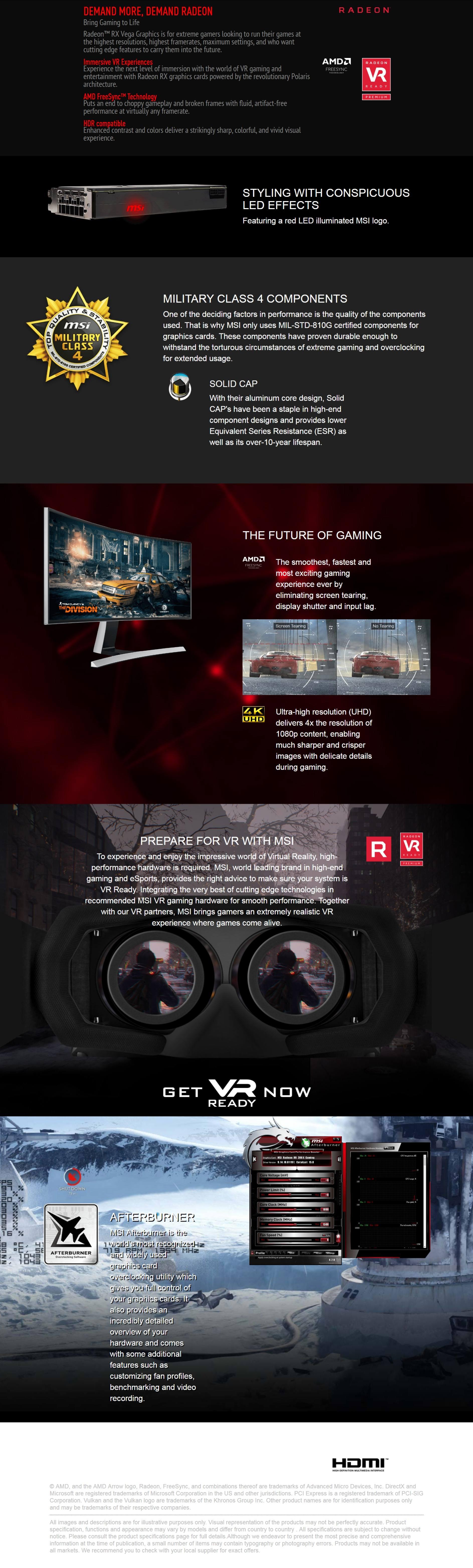 MSI Radeon RX VEGA 64 Air Boost 8G OC Graphics Card