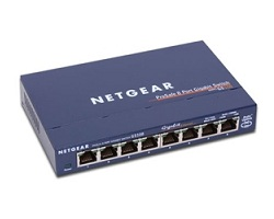 NETGEAR GS108 8-Port 10/100/1000 Gigabit Ethernet Switch