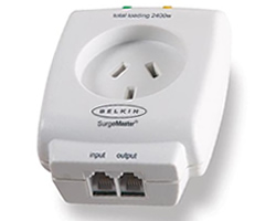 Belkin Essential Series 1-Outlet Surge Cube + Telephone