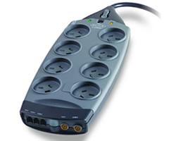 Belkin Gold Series 8-Way Surge Protector + Telephone + AV