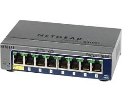 Netgear GS108T-200 8-Port 10/100/1000 Full Duplex Gigabit Smart Switch (V2)