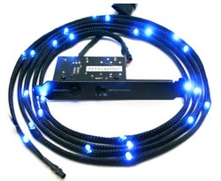 NZXT Sleeved LED 100cm Cable - Blue