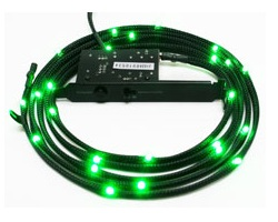 NZXT Sleeved LED 100cm Cable - Green