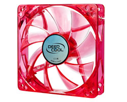 Deepcool Case Fan 120 x 25mm Red UV Frame with Red LED