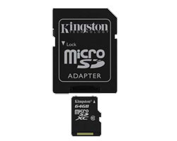 Kingston 64GB microSDXC Class 10 Memory Card (SDCX10/64GB)