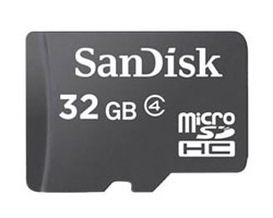 SanDisk 32GB microSDHC Memory Card CL4 (SDSDQM-032G-BQ35)
