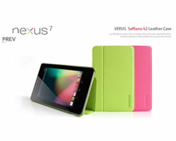 Google Nexus 7 Pink Premium Leather Case - Includes Screen Protector