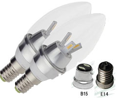BZ-JP-1 - 3W Led Candle Light E14 (2PK)