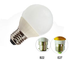 BZ-QPT-5W-E27W - 5W LED Ball Bulb Light Warm White E27
