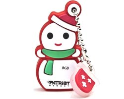 Patriot Snowman 8GB USB 2.0 Flash Drive