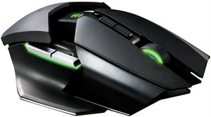 Razer Ouroboros Ambidextrous gaming mouse, fits all hand sizes and grip-styles.