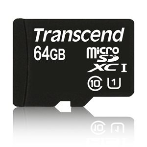 Picture of Transcend 64GB microSDHC Class 10 UHS-I 300x (Premium)