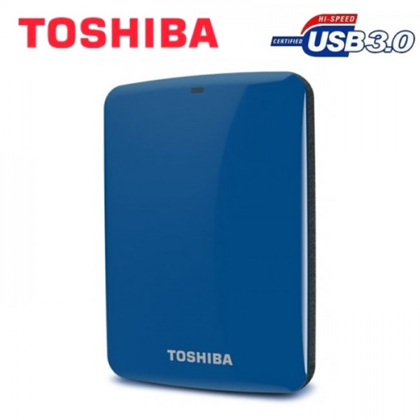 Toshiba Canvio Connect USB 3.0 V7 500GB External HDD (Blue)