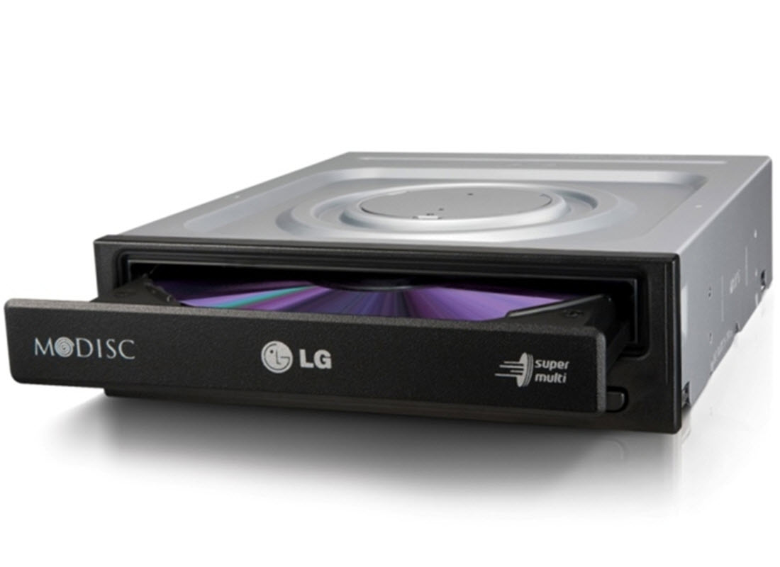 LG (GH24NSB0) 24x Dual Layer Super Multi DVD Burner Black OEM - SATA
