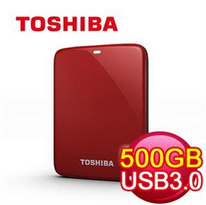 Toshiba Canvio Connect USB 3.0 V7 500GB External HDD (RED)