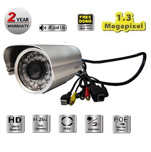Foscam (FI9805E) H.264 Megapixel Outdoor Power Over Ethernet (POE) IP Camera
