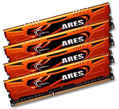 16GB G.Skill Ares DDR3-2133 Quad Channel F3-2133C11Q-16GAO